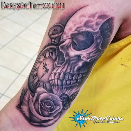 Sean O'Hara - Black and Gray Skull Tattoo