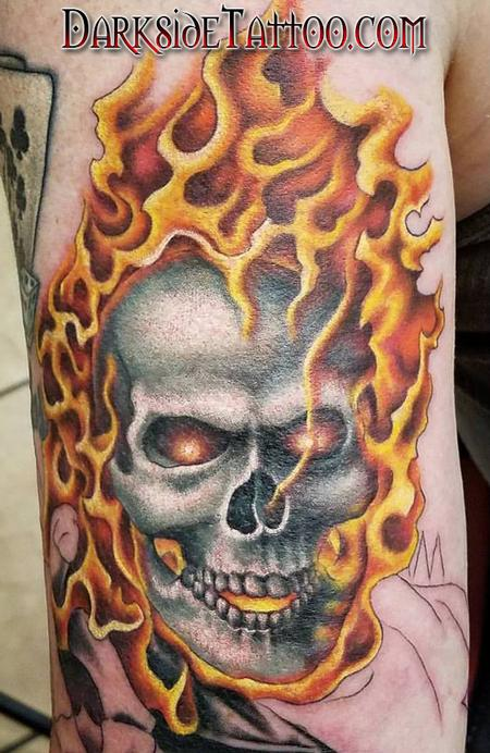 Tattoos - Color Ghostrider Tattoo - 117324
