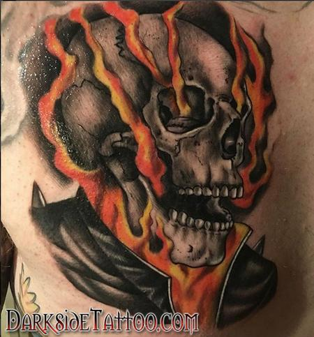 Matthew Kiley - Color Ghostrider Tattoo