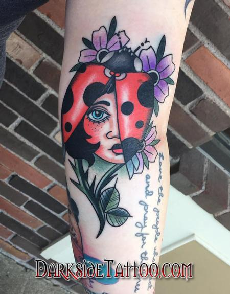 Daniel Adamczyk - Color Traditional Ladybug Tattoo
