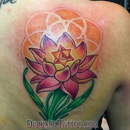 Tattoos - Color Lotus Tattoo - 114088