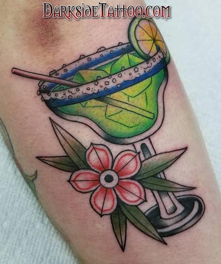 Tattoos - Color Martini Glass Tattoo - 133953