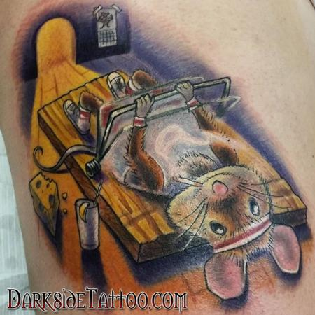 Tattoos - Color Mouse-trap Tattoo - 114089
