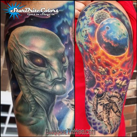 Sean O'Hara - Color Outerspace Tattoo