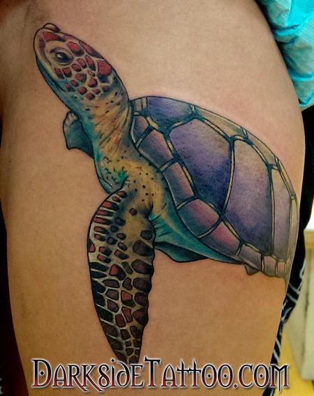 Tattoos - Color Turtle Tattoo - 120346