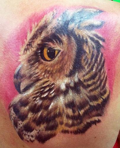 Tattoos - Great Horned Owl tattoo - 87361