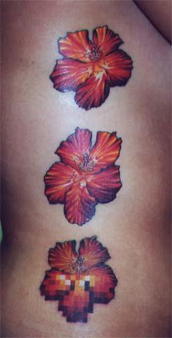 Tattoos - Pixel Flowers - 1633