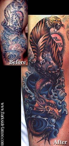 Sean O'Hara - Tiger/Dragon tattoo rework