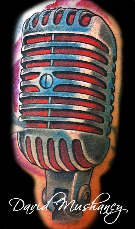 Vintage Microphone Tattoo By David Mushaney Tattoonow