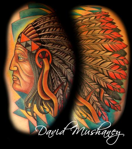 Tattoos - Indian Head Dress Tattoo - 68662
