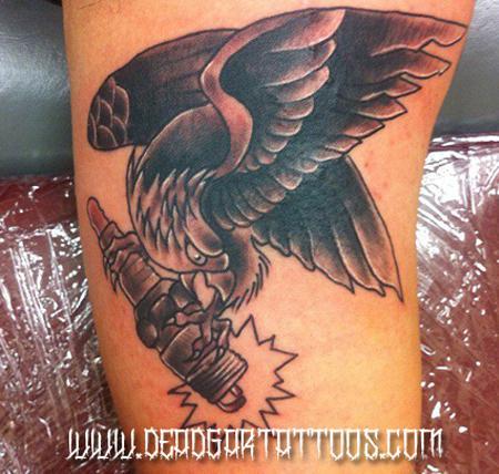 Tattoos - Sparkplug Eagle  - 65585