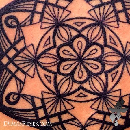 Dimas Reyes - Mandala Tattoo Detail