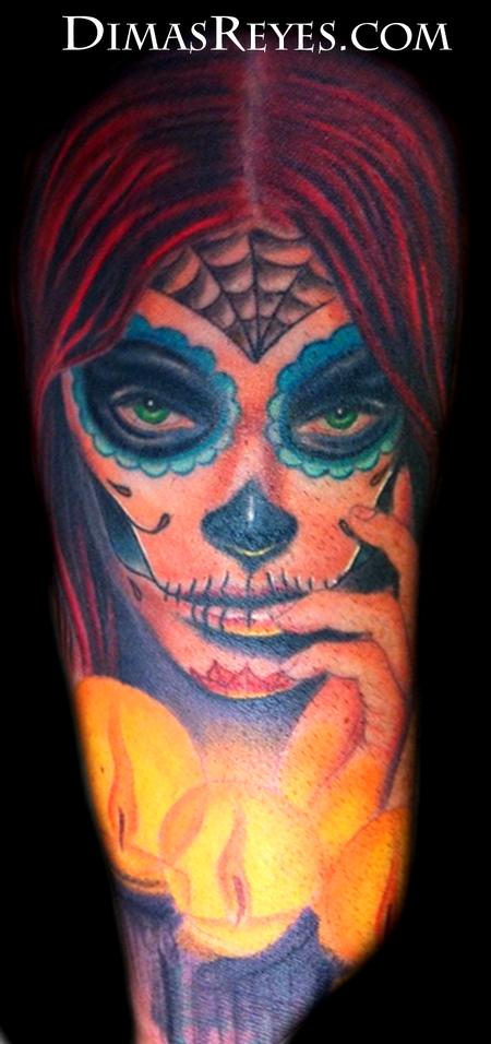 Dimas Reyes - Color Day of the Dead Girl