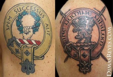 Dimas Reyes - Family Crest Tattoos
