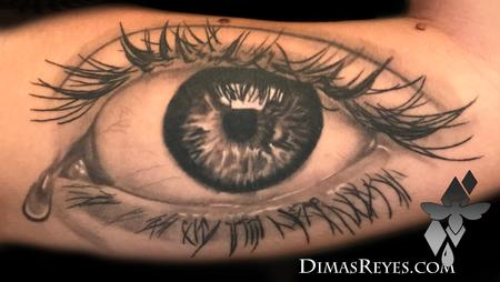 Tattoos - Black and Grey Realistic Eye tattoo - 138950