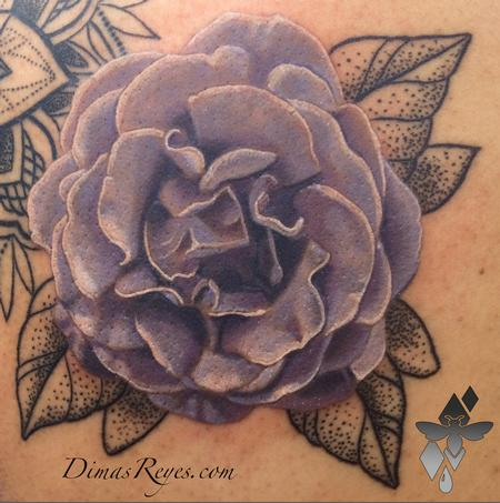 Tattoos - Realistic Flower Tattoo - 119286