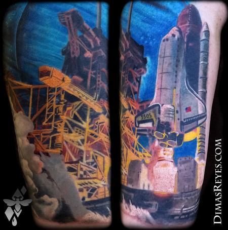 Dimas Reyes - Space Shuttle Nasa Launch Tattoo