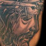 Tattoos - Black and Grey Jesus Christ tattoo - 138948