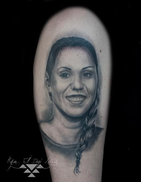 Tattoos - Black and Grey Portrait - 136053