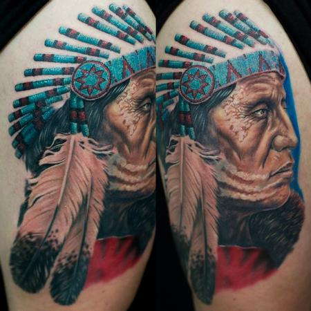 Tattoos - Native Elder War Chief  - 79688