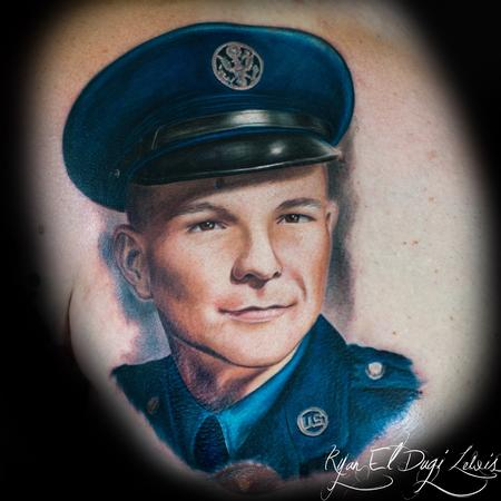 Ryan El Dugi Lewis - Grandfather Airforce Portrait