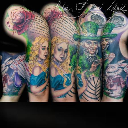 Tattoos - Alice in Wonderland Sleeve - 78088