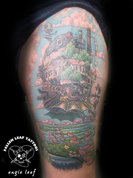 Angela Leaf - Howls Moving Castle Tattoo