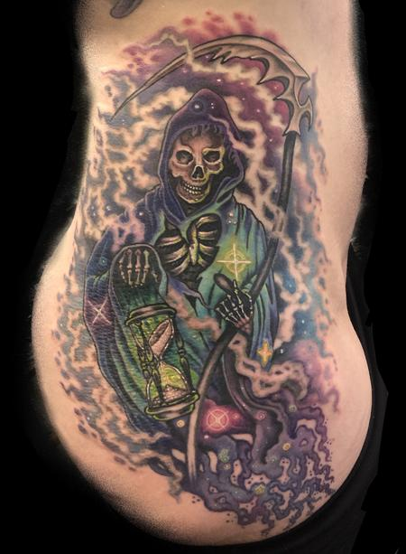 Tattoos - Cosmic Color Grim Reaper Tattoo - 141650