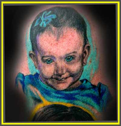Tattoos - baby portrait - 19367
