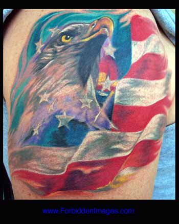 LITOS - Bald Eagle and Flag