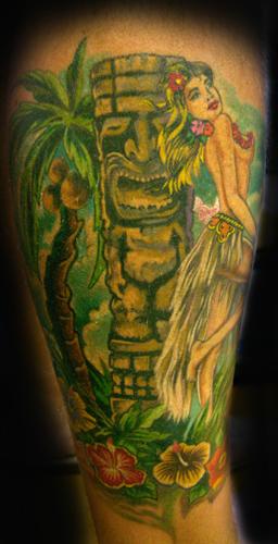 Tattoos - HULLA GIRL TIKI ! - 24181