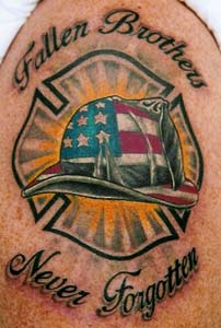 LITOS - fireman tattoo