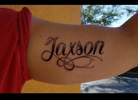 Tattoos - Jaxson Script - 129383