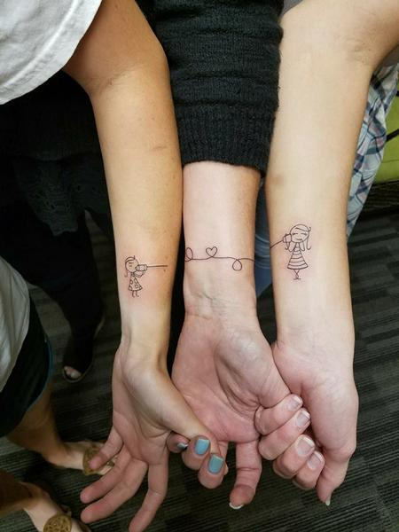 Tattoos - Mother and Daughter Tattoo - 129371