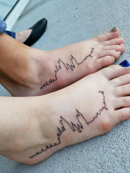 Tattoos - Harry Potter Hogwarts outline with Handwritten Script - 129375