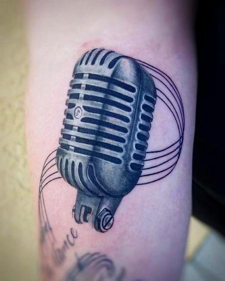 Microphone Tattoo Design Thumbnail
