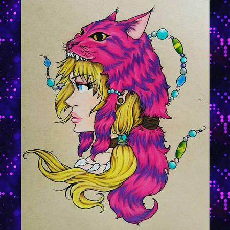 Stefanee Schofield - Anime Alice in Wonderland w/ Cheshire Headdress