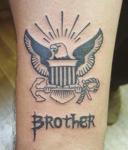 Stefanee Schofield - Navy Brother Tattoo