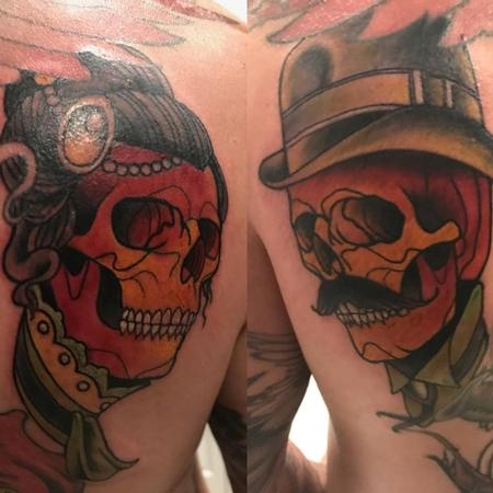 Tattoos - neo traditional skulls - 139984