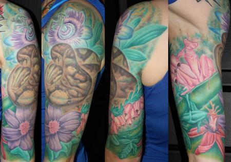 Tattoos - flower garden - 60045