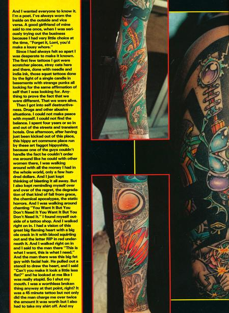 - Tattoo Revue Magazine- Jackson Feature, 1990 - Page 3