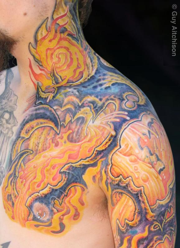 Tattoos - Jim, lavamech closeup - 72589