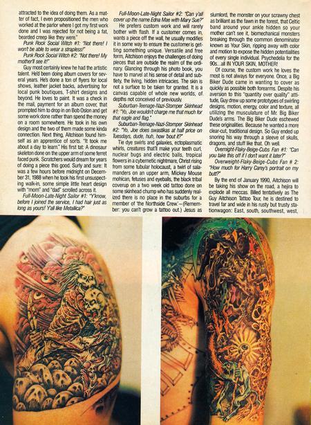 - Tattoo Revue Magazine, 1990 - Page 3