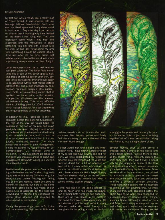 - Tattoo Artist Mag feature, 2003, Page 4