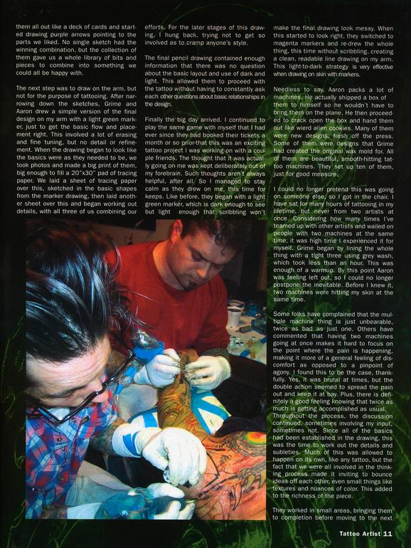 - Tattoo Artist Mag feature, 2003, Page 6