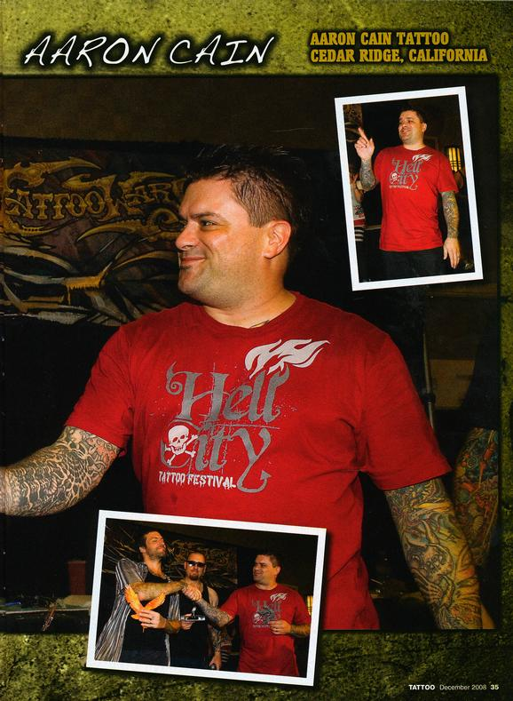 - Tattoo Wars - Tattoo Mag,  Dec 2008, Page 2