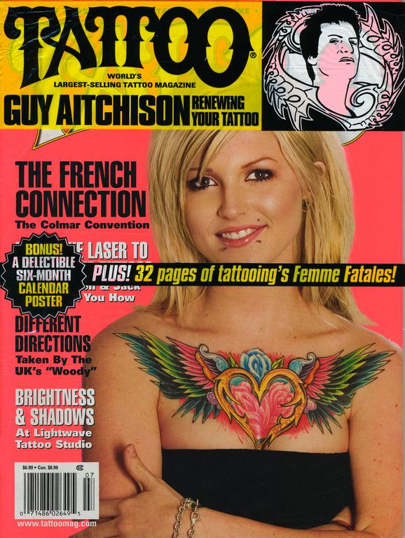 - Laser Article, Tattoo Mag, 2006, Cover