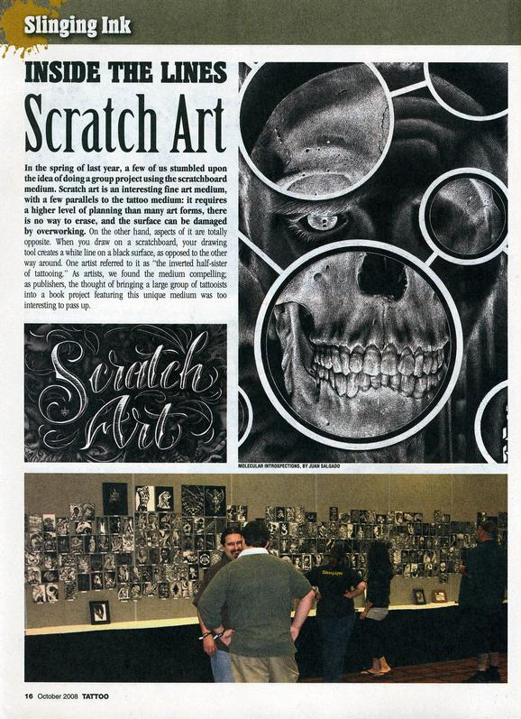 - Scratch Art, Tattoo Mag, 2008, Page 1