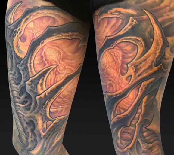 Tattoos - Angel Thigh - 122006