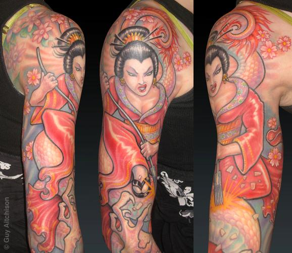 Tattoos - Becky, tattoo geisha closeup - 72598